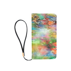 Watercolor Paint Wash Men's Clutch Purse (Model 1638)
