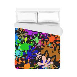 "Paint Splats & Ink Blots Duvet Cover 86""x70"" ( All-over-print)"