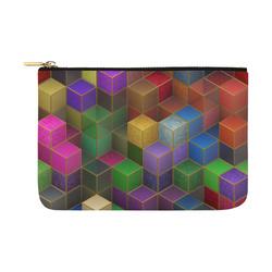 Geometric Rainbow Cubes Texture Carry-All Pouch 12.5''x8.5''