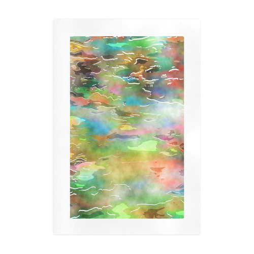 Watercolor Paint Wash Art Print 19''x28''
