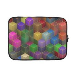 Geometric Rainbow Cubes Texture Custom Laptop Sleeve 15''