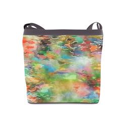 Watercolor Paint Wash Crossbody Bags (Model 1613)
