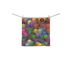 "Geometric Rainbow Cubes Texture Square Towel 13""x13"""