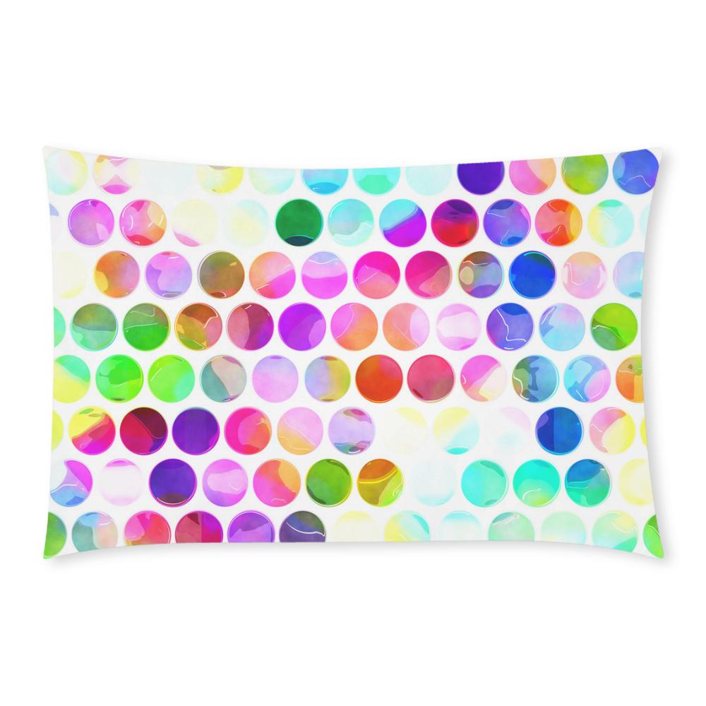 Watercolor Polka Dots 3-Piece Bedding Set