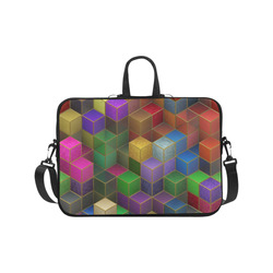 "Geometric Rainbow Cubes Texture Laptop Handbags 17"""