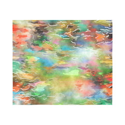 """Watercolor Paint Wash Cotton Linen Wall Tapestry 60""""x 51"""""""