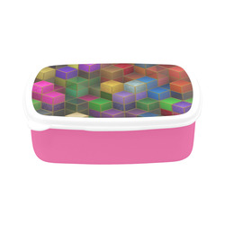 Geometric Rainbow Cubes Texture Children's Lunch Box