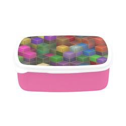 Geometric Rainbow Cubes Texture Children's Lunch Box
