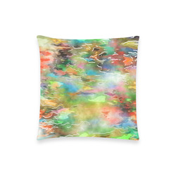 "Watercolor Paint Wash Custom  Pillow Case 18""x18"" (one side) No Zipper"