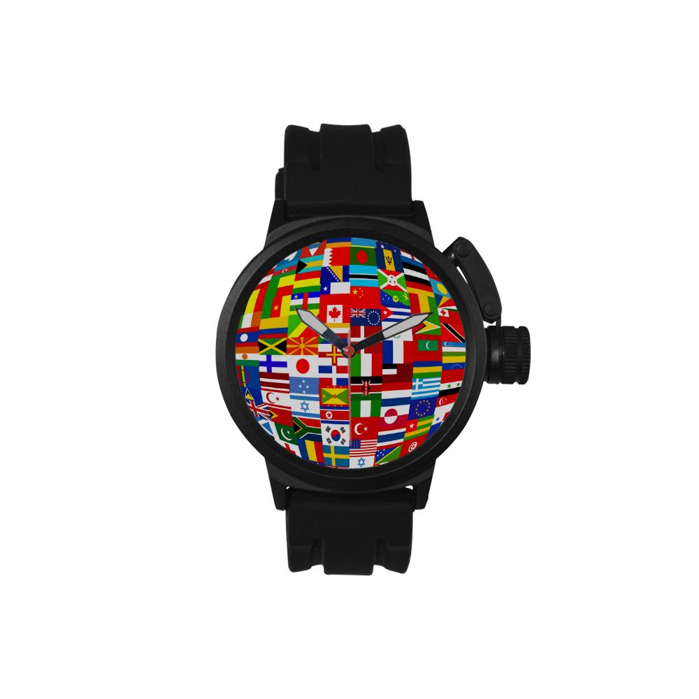 International Travel Flag World Men's Sports Watch(Model 309)