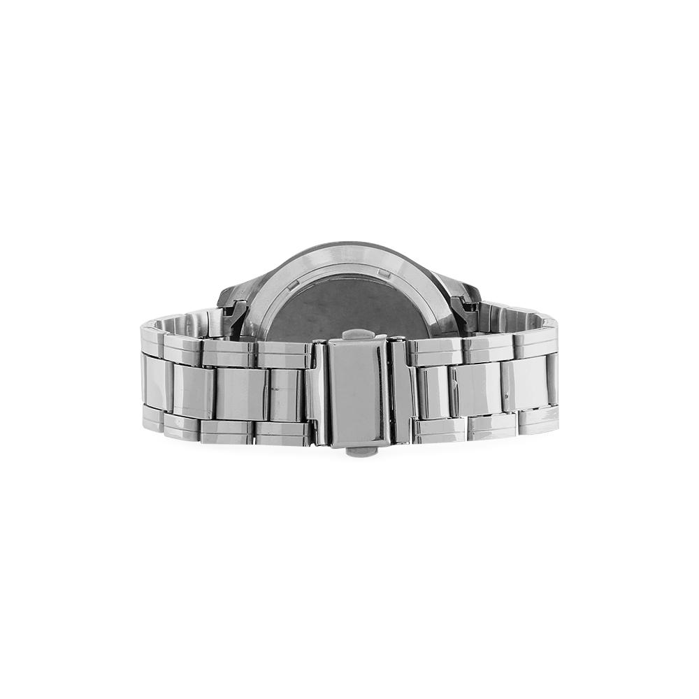 International Travel Flag World Men's Stainless Steel Analog Watch(Model 108)
