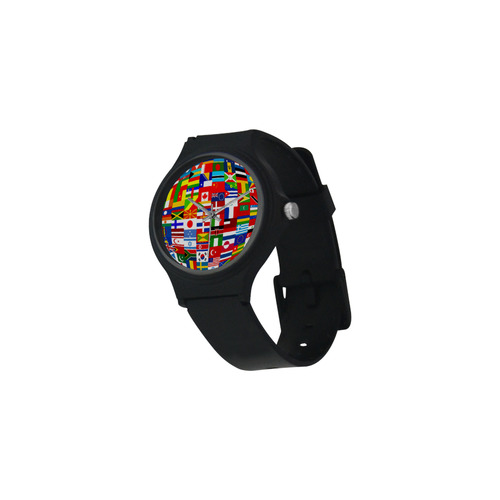 International Travel Flag World Warrior Plastic Watch (Model 313)