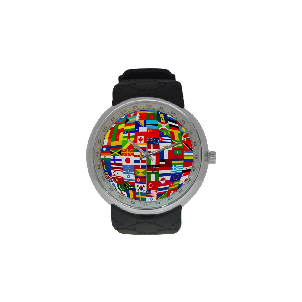 International Travel Flag World Men's Resin Strap Watch(Model 307)