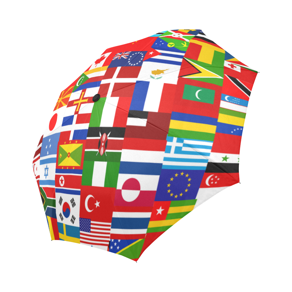 International Travel Flag World Auto-Foldable Umbrella (Model U04)