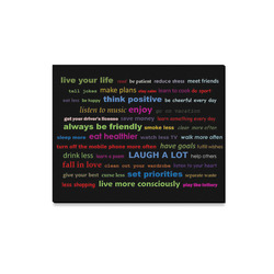 """Canvas Print 20""""x16"""" Colorful Resolutions Quotes Canvas Print 20""""x16"""""""