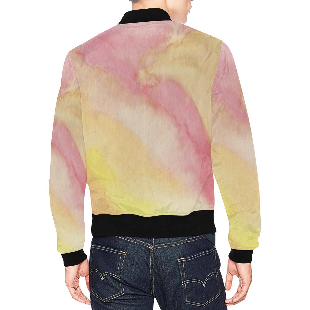 Fire Ocean All Over Print Bomber Jacket for Men (Model H19)