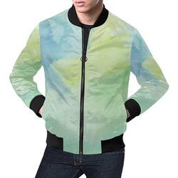 The Earth Below All Over Print Bomber Jacket for Men (Model H19)