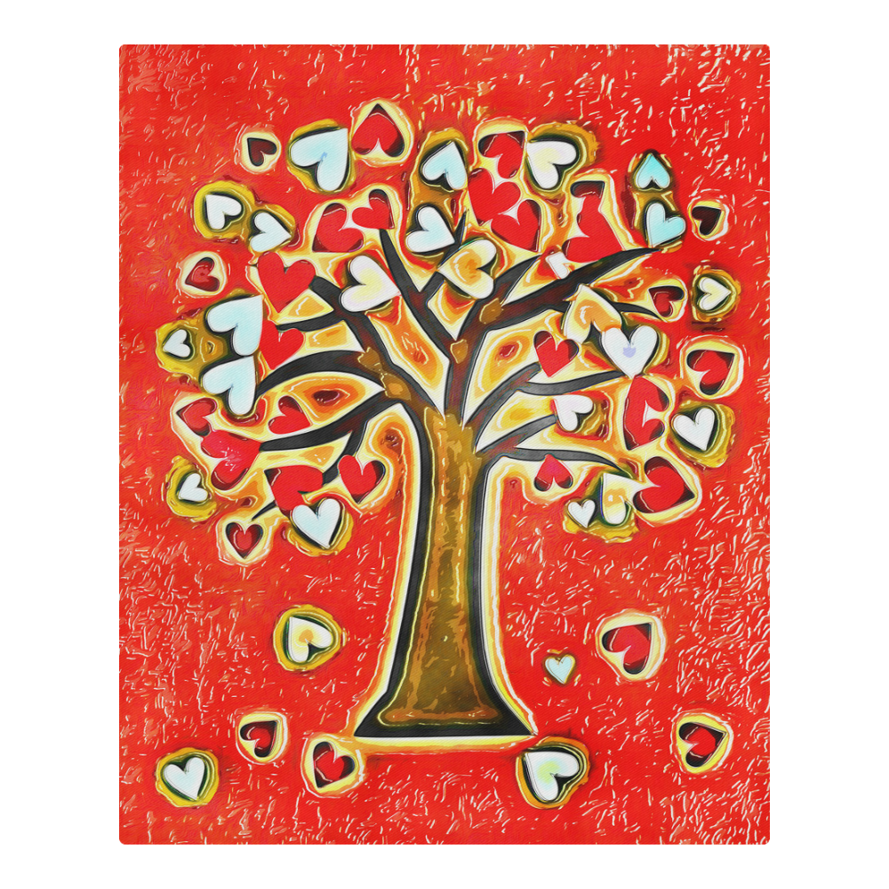 Watercolor Love Tree 3-Piece Bedding Set