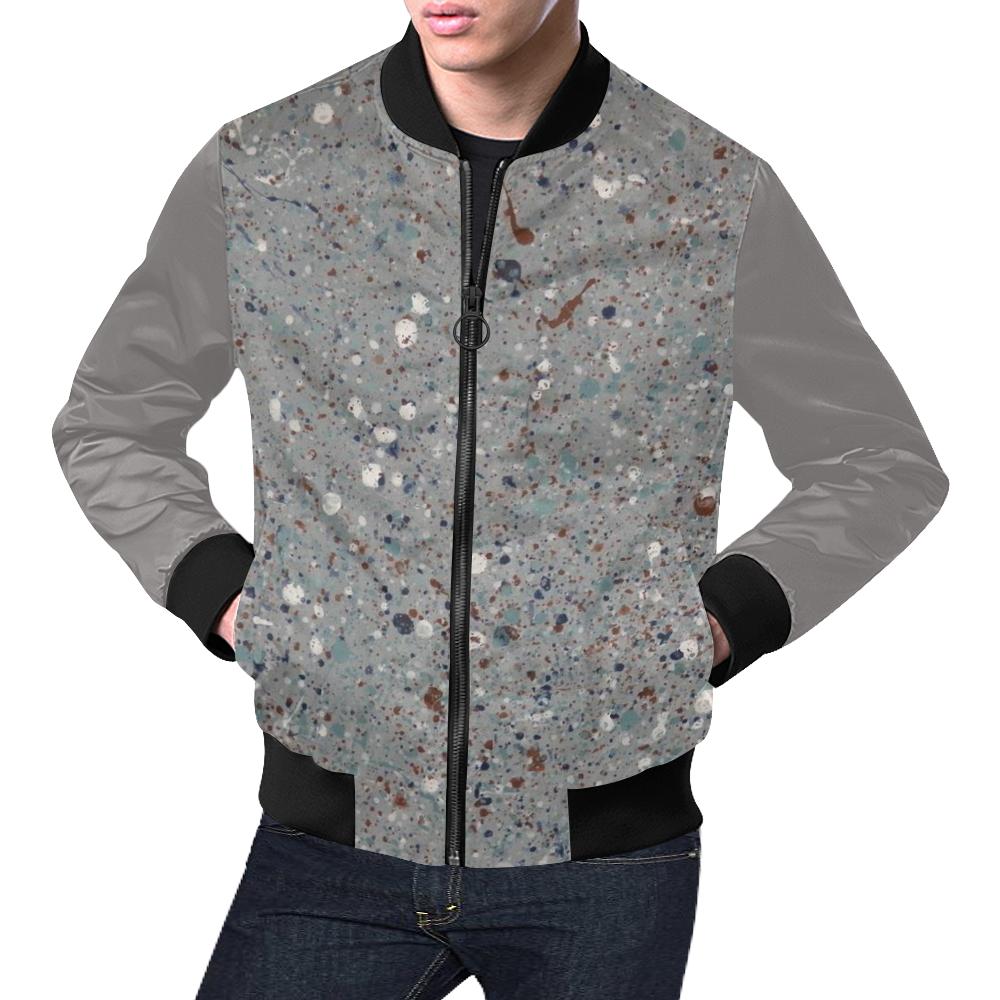Abyssal Blizzard All Over Print Bomber Jacket for Men (Model H19)