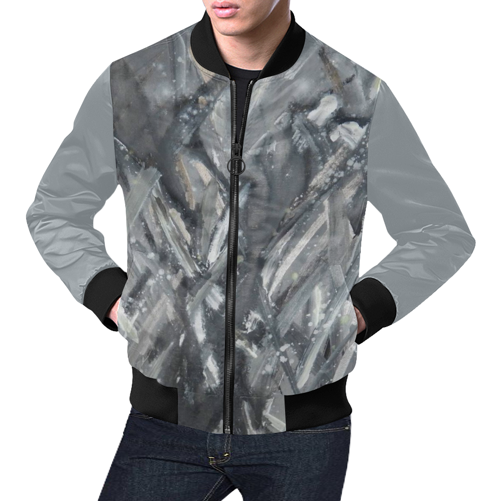 Firefly Ice Dance_Square All Over Print Bomber Jacket for Men (Model H19)