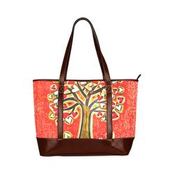 Watercolor Love Tree Tote Handbag (Model 1642)