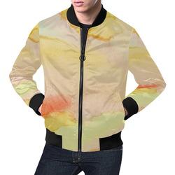 Sunburst Stained Glass All Over Print Bomber Jacket for Men (Model H19)