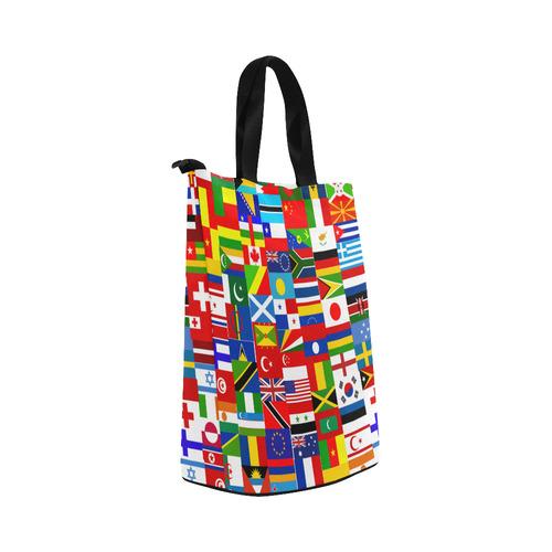 World Flag Montage Nylon Lunch Tote Bag (Model 1670)
