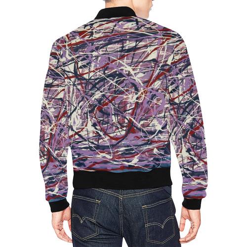 Enchanted Symphony All Over Print Bomber Jacket for Men (Model H19)