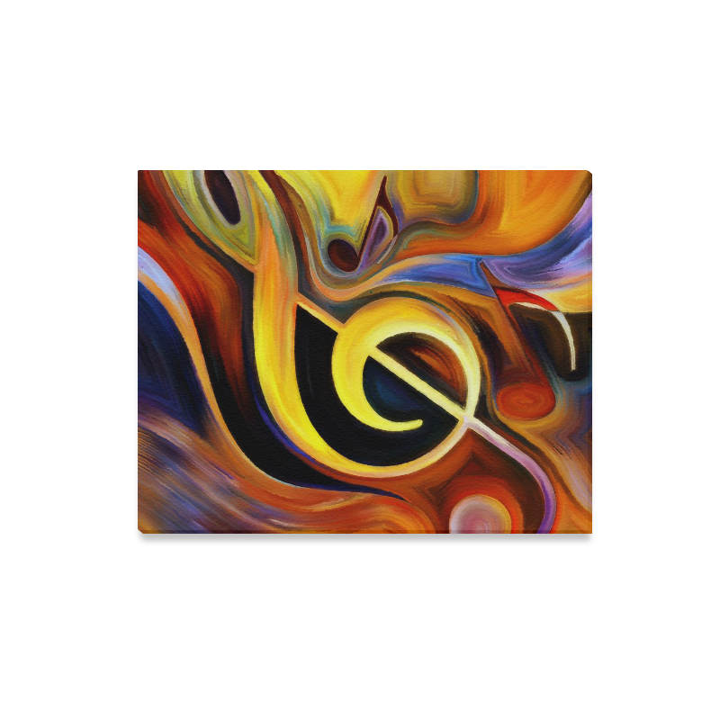 "Canvas Print 20""x16"" Colorful Music Notes Canvas Print 20""x16"""