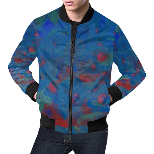 Roses of the Sea All Over Print Bomber Jacket for Men (Model H19)