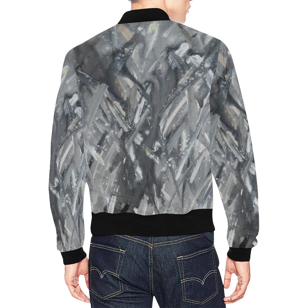 Firefly Ice Dance_Square All Over Print Bomber Jacket for Men (Model H19)