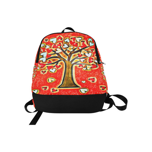 Watercolor Love Tree Fabric Backpack for Adult (Model 1659)
