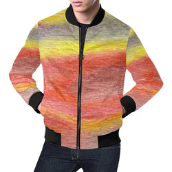 Chromatic All Over Print Bomber Jacket for Men (Model H19)