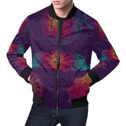 Colorful Mandala All Over Print Bomber Jacket for Men (Model H19)