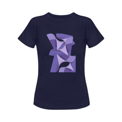 Ultra Violet Abstract Women's Classic T-Shirt (Model T17)