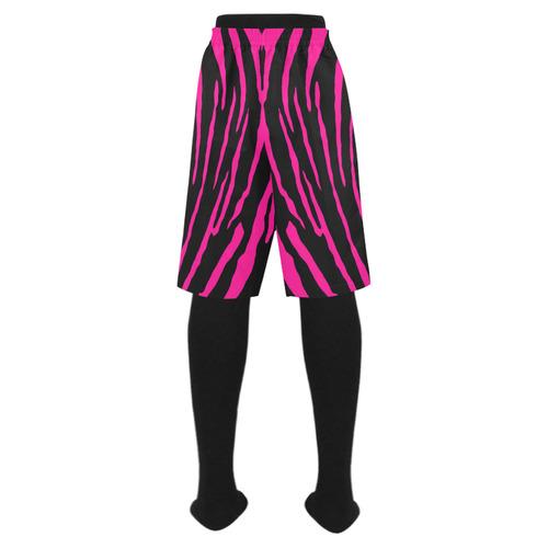 Pink Tiger Stripes Men's Swim Trunk (Model L21)