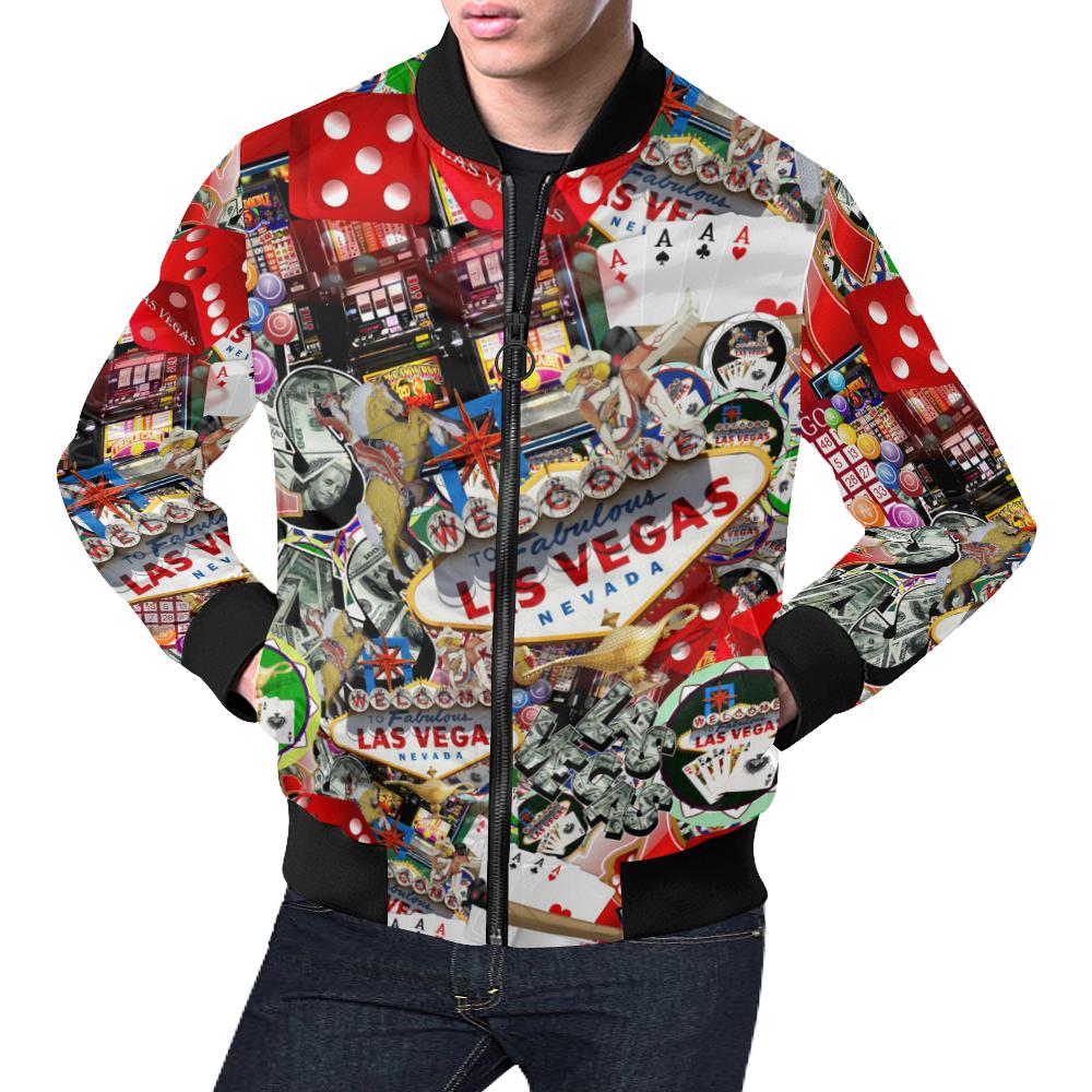 Las Vegas Icons - Gamblers Delight All Over Print Bomber Jacket for Men (Model H19)