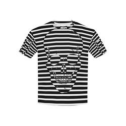 Awesome Skull Black & White Kids' All Over Print T-shirt (USA Size) (Model T40)