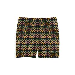 Tropical Fish Black Briseis Skinny Shorts (Model L04)