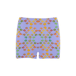 Tropical Fish Blue Briseis Skinny Shorts (Model L04)