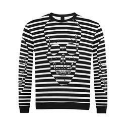 Awesome Skull Black & White All Over Print Crewneck Sweatshirt for Men/Large (Model H18)