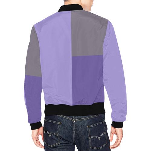 Lavender All Over Print Bomber Jacket for Men (Model H19)
