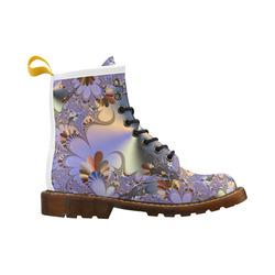 TWIGISLE Fractals with purple metallic shine High Grade PU Leather Martin Boots For Women Model 402H