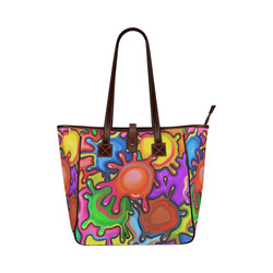 Vibrant Abstract Paint Splats Classic Tote Bag (Model 1644)
