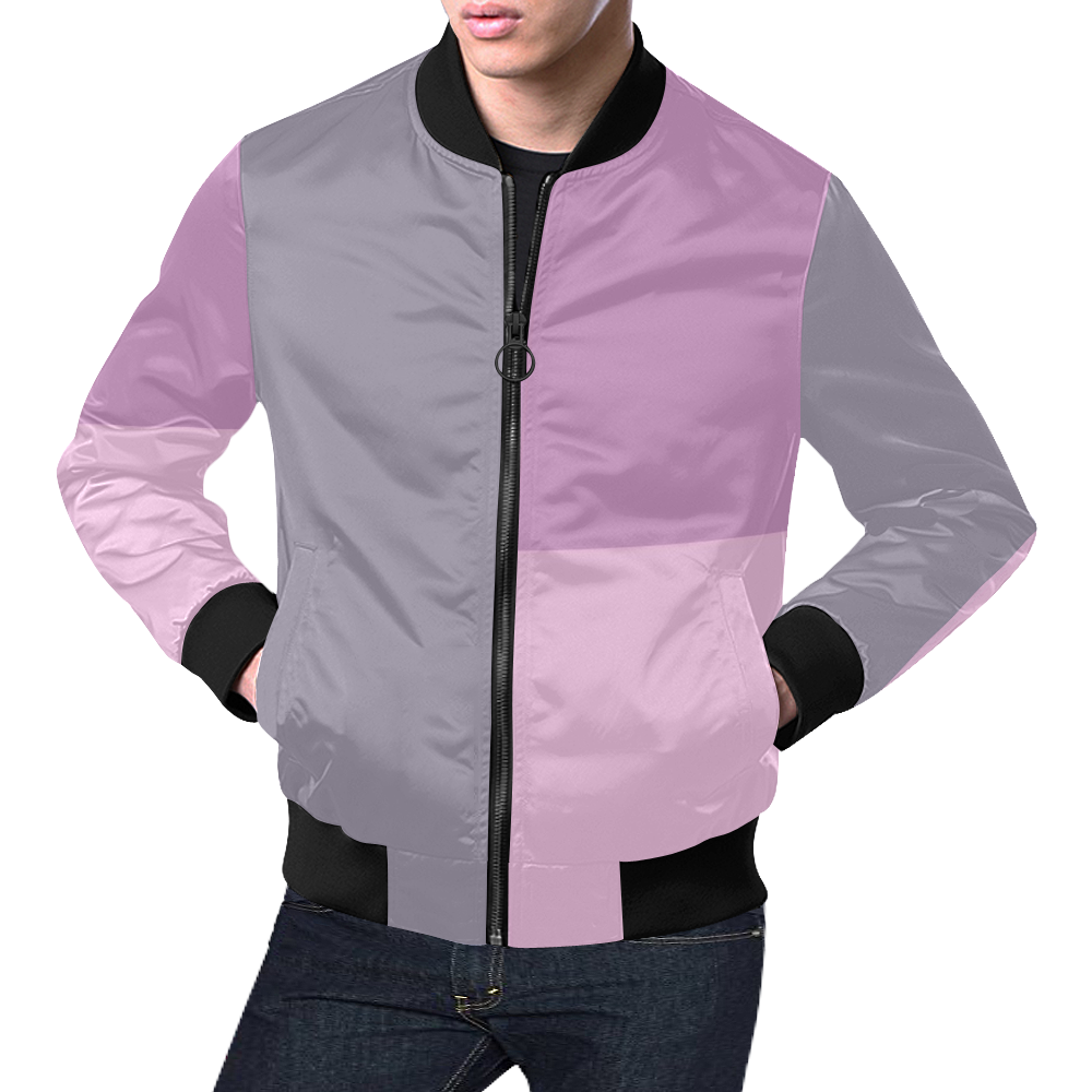 Pink Sand All Over Print Bomber Jacket for Men (Model H19)