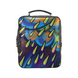 Heavy Rain Cloud Painting Square Backpack (Model 1618)
