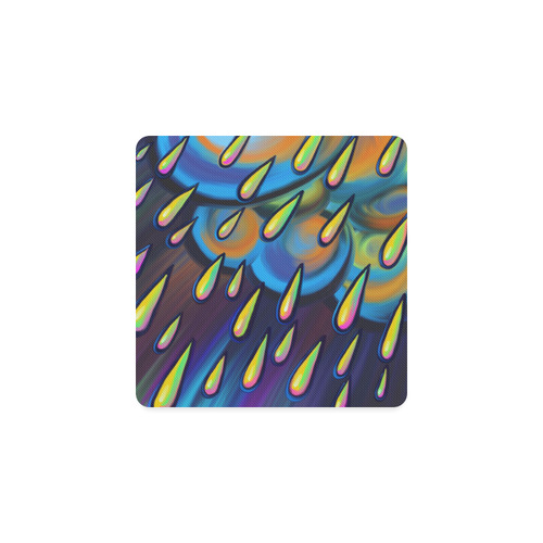 Heavy Rain Cloud Painting Square Coaster