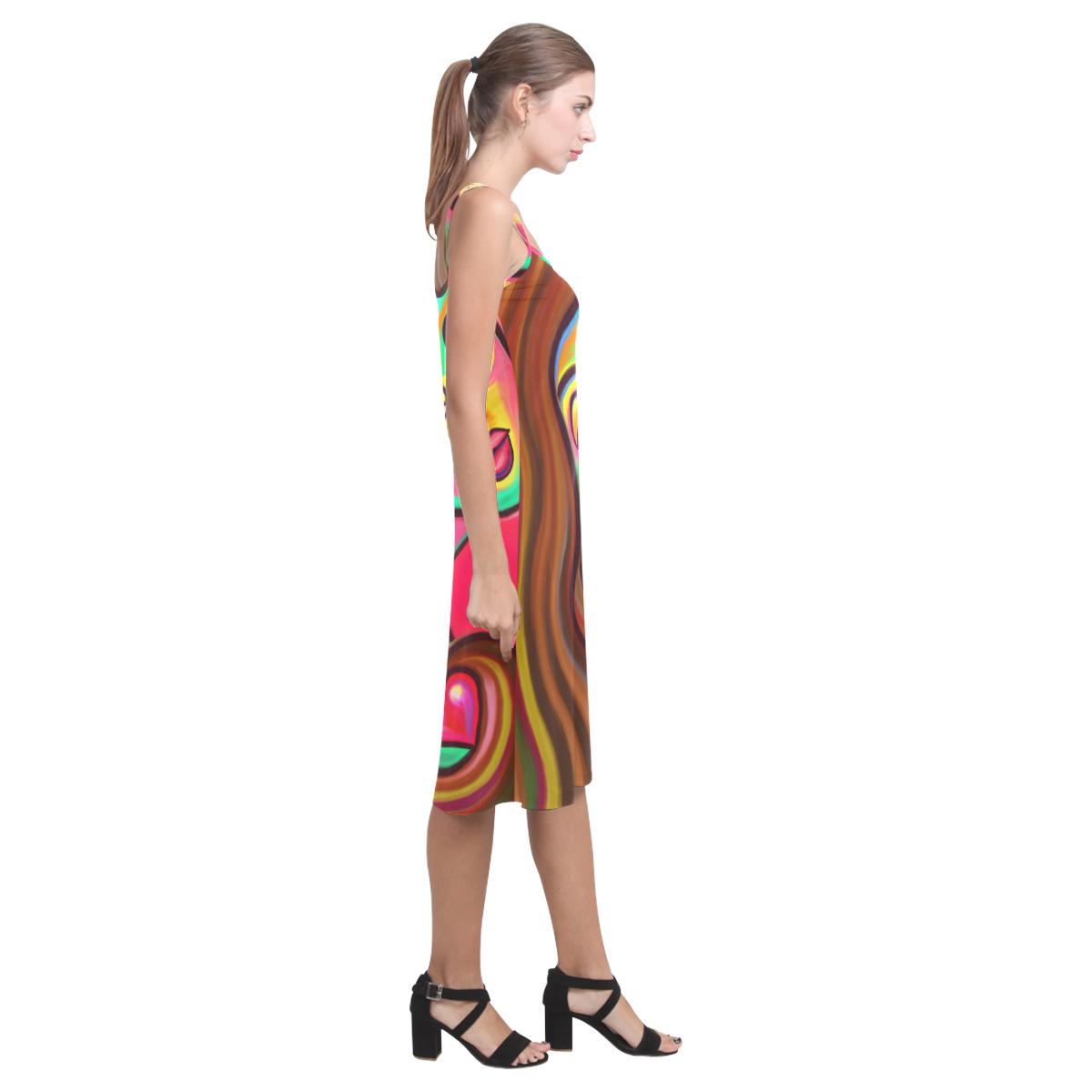 Love is Near Vibrant Portrait Alcestis Slip Dress (Model D05)