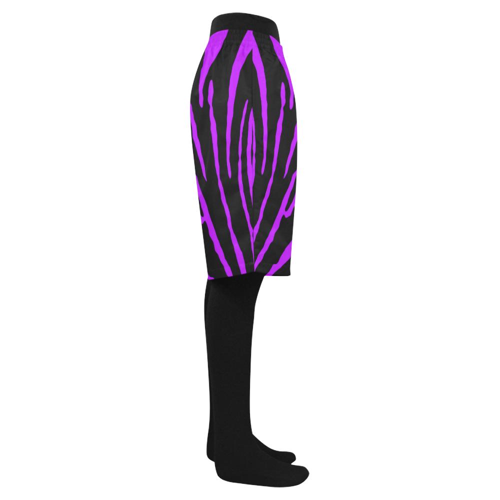 Purple Tiger Stripes Men's Swim Trunk (Model L21)