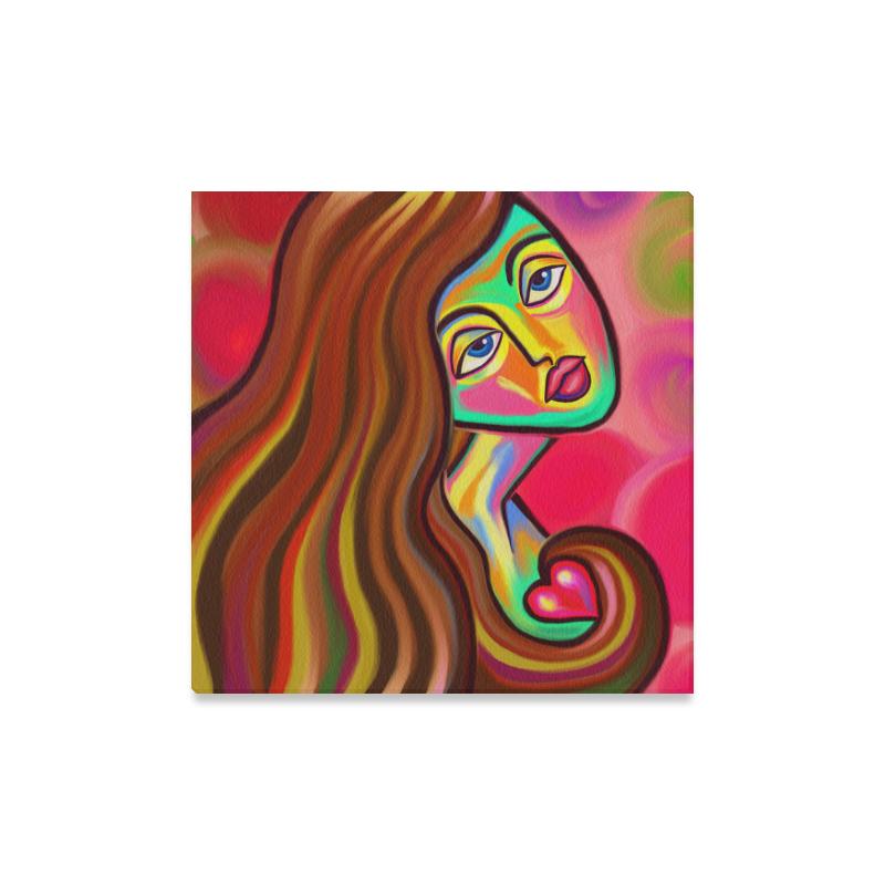 "Love is Near Vibrant Portrait Canvas Print 16""x16"""